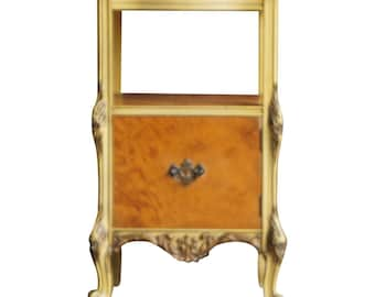 Antique Nightstand / Bedside Table  / Vintage Nightstand / French Provincial Nightstand