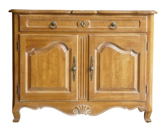 Server / Sideboard / French Provincial Buffet / Serving Cabinet / Country French Server by Ethan Allen