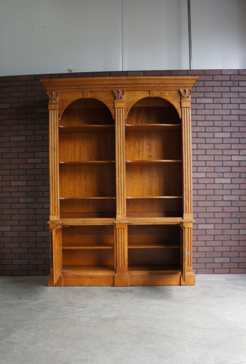 Bookcase Display Cabinet Library Cabinet Legacy Double Arch Bookcase By Ethan Allen