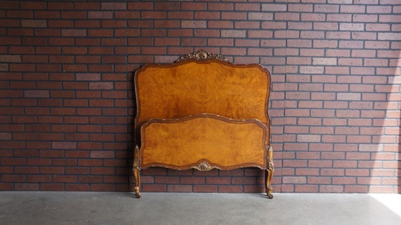 Antique Twin Bed Frame / Twin Bed French Provincial Bed /