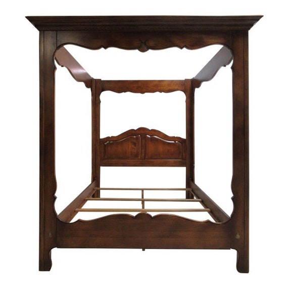 French Provincial Queen Canopy Bed, French Country Queen Bed