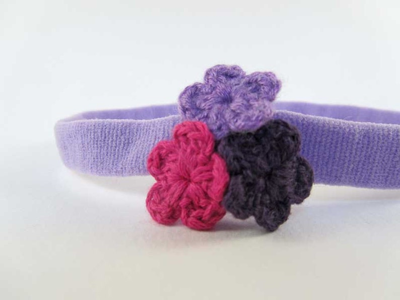 Trio de Crochet  Light Purple Colored Headband w/ Small image 0