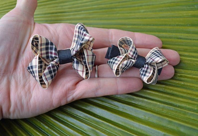 Preschool Plaid Handmade Butterfly Bows  Pick Your Size image 0