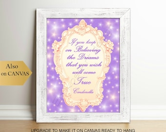 Princess Cinderella Art Print Cinderella Quotes Princess Etsy
