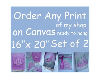 Canvas Painting 16x20 SET OF 2, Canvas Print, Canvas Wall Art, Kids Decor, Canvas Art, Nursery Decor, Canvas Gallery Wrap, Nursery Wall Art