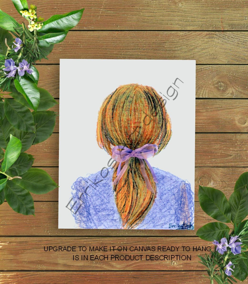 Toddler Girl Art Hairstyle Print Girls Room Art Girls Wall Etsy