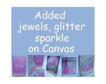 Added on Canvas Wrap, fairy dust, sparkle, jewels,glitter, Kids Decor, Kids Wall Art, Girls room Decor, Nursery Wall Art, Nursery Decor