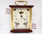 Royal Doulton Bulova Westminster Chime Clock Floral Roses