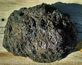XL Lava Rock black with blue/purple hue Rare unique Lava Ball 100% Natural Organic
