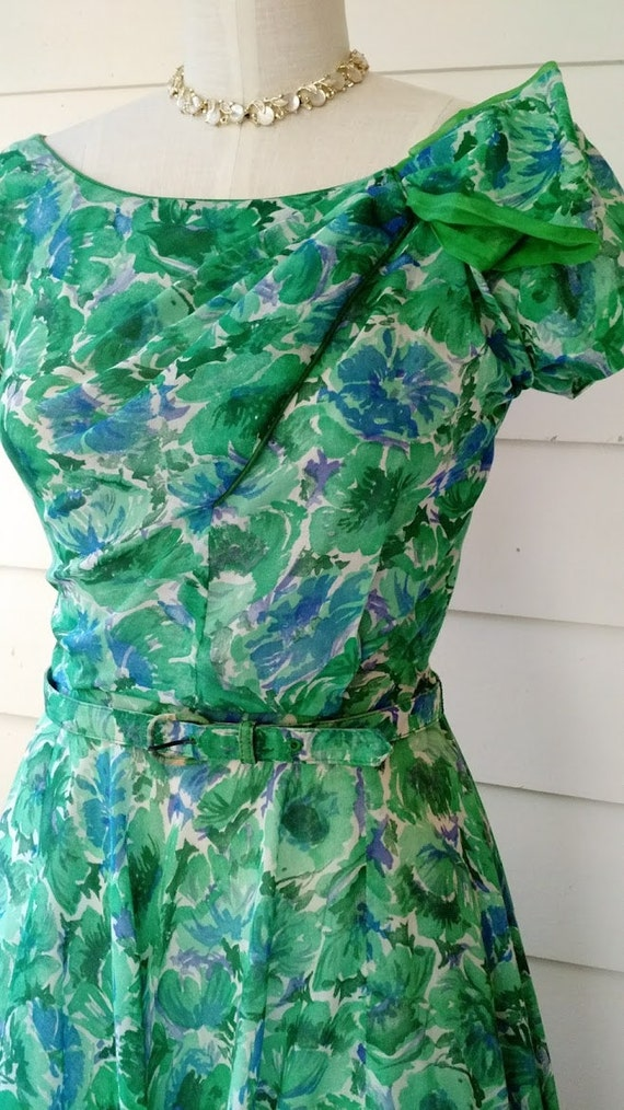 1950's Watercolor Dress - SM