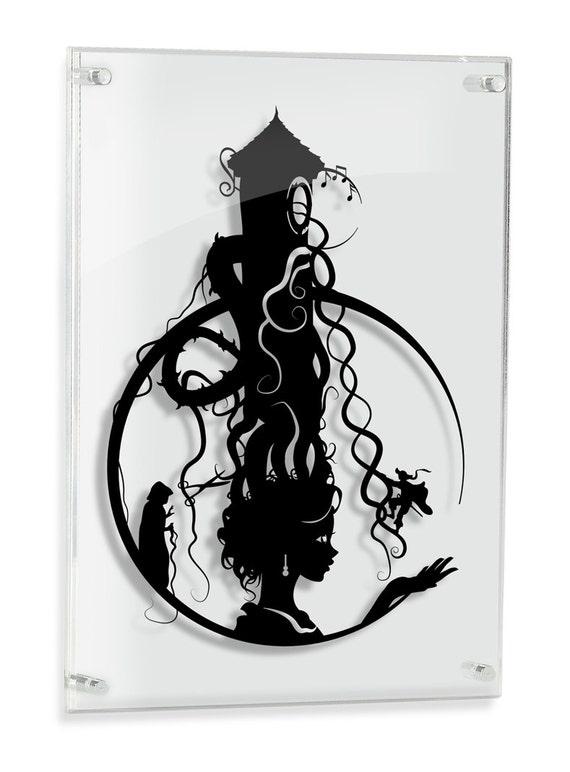 Rapunzel ou style princesse conte de fées haute tour pendentif pour bijoux argent