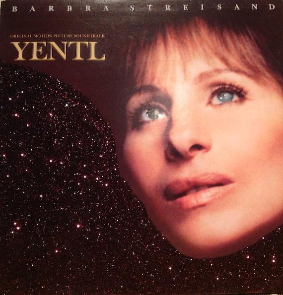 Glittered Barbra Streisand Yentl Soundtrack Vinyl Record