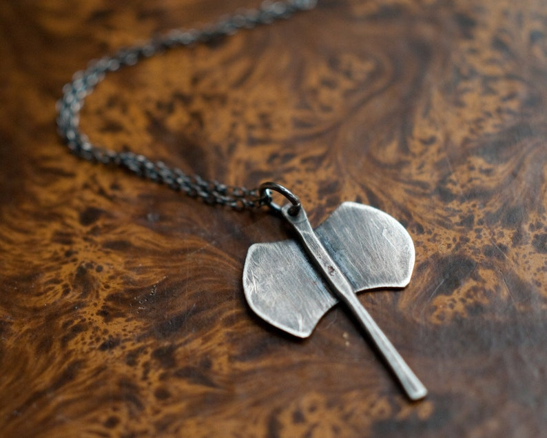 Labrys necklace double headed axe amulet sterling silver image 0