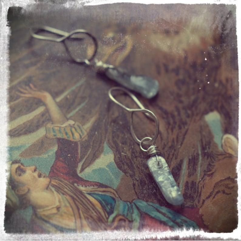 Sterling silver blue Kyanite Kyanite shard Kyanite stick image 0