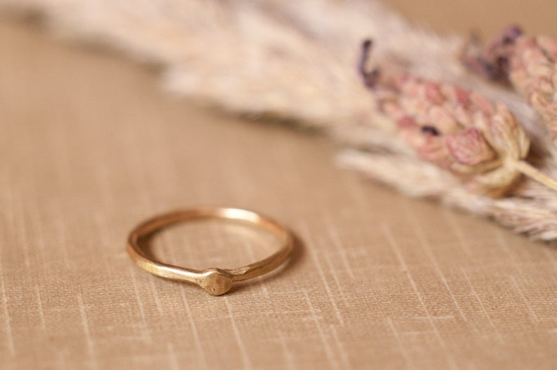 Gold Ouroboros ring solid gold infinity snake stacking ring image 0