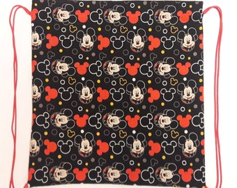 Disney Mickey mouse drawstring backpack cinch bag cinch sack