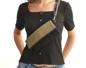 Gold fanny bag, gold hip pack, gold fanny pack, bum bags for women,gold fanny pack, vegan banana bag - Tiana