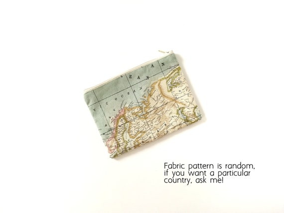 Worldmap Make Up Bag Worldmap Maxi Pencil Case Purse Etsy