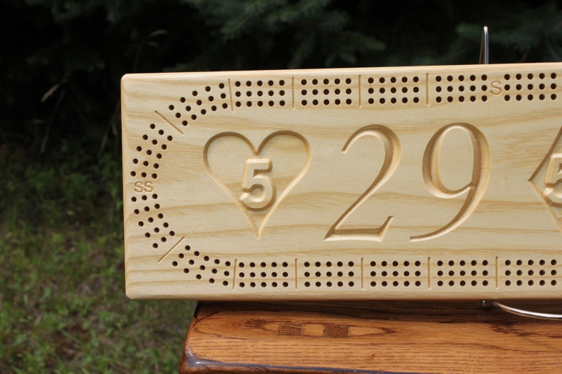 NASCAR Cribbage Board Made From White Ash