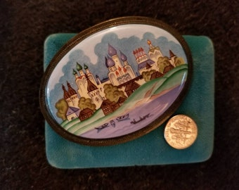 Russian  City Folk Art Hand Painting Miniature Picture