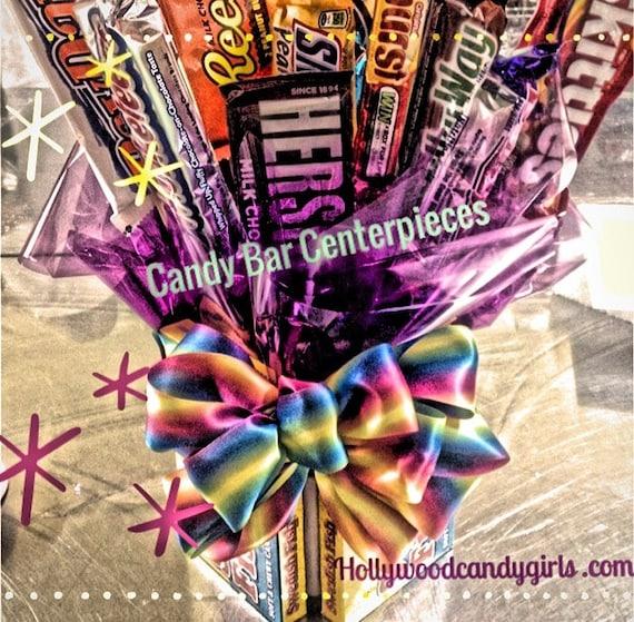 Chocolate Bar Candy Bouquet Centerpiece Candy Buffet Decor | Etsy
