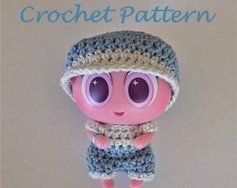 14c4e3dcf27 Crochet PATTERN for Neonate Nerlie. Onesie   Cap.