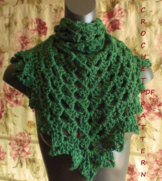 Crochet Shawl Pattern Easy And Fast Project Pdf 018 Etsy