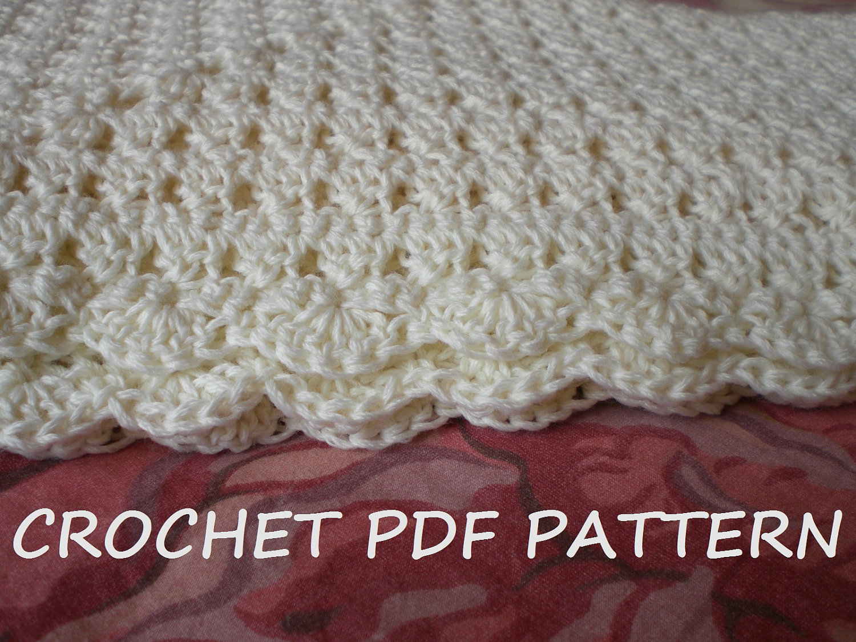 Crochet Baby Blanket Pattern Pdf 020 Etsy