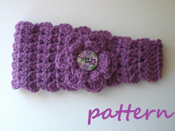 Crochet Headband Earwarmer Pattern Pdf 028