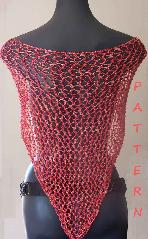 Shawl Knitting Pattern Summer Triangle Lace Shawl Free Etsy