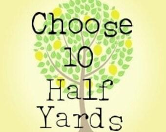 Take Your Pick Pick 5 Half Yards Half Yard Bundle