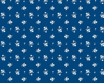 Floral Navy: Natalie Lymer - Enchant Collection 1 Yard Cut