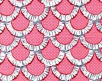 Tea Room Apron Ruffle Pink Michael Miller 1 Yard Cut