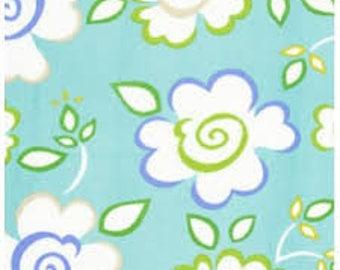 Sachi in Blue  Kumari Garden by Dena Designs for Free Spirit Sujata Blue 1 Yard Cut