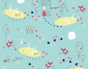Enchant Main in Aqua: Natalie Lymer - 1 Yard Cut