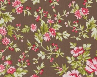 Subtle Blooms Mocha  Pirouette 1 Yard Cut