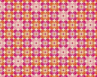 Square Petals in Tangerine  from Notting Hill by Joel Dewberry -  1 Yard Cut