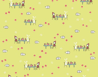 Tea Party in Green: Natalie Lymer - Enchant Collection 1 Yard Cut