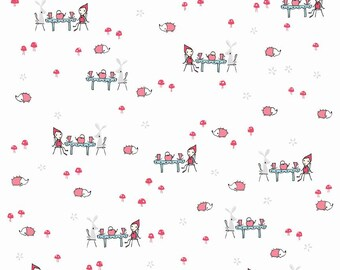 Tea Party in White: Natalie Lymer - Enchant Collection 1 Yard Cut