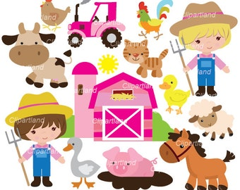 INSTANT Download. Farm clip art. Cf_54. Personal and commercial use.