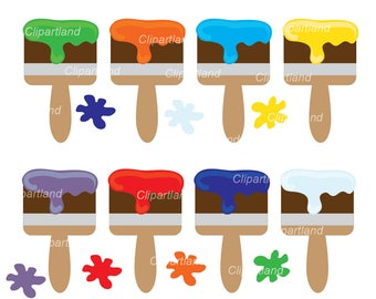 INSTANT Download. Paint brush clip art. Cb_4. Personal and commercial use.