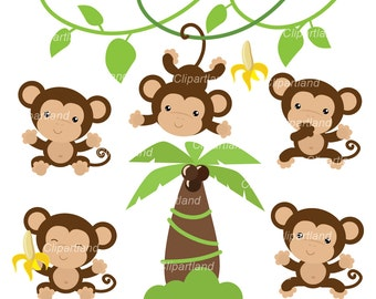 INSTANT DOWNLOAD. Monkeys 6. Personal and commercial use.