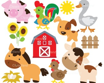 INSTANT DOWNLOAD. Farm animal clip art. Cf_36. Personal and commercial use.