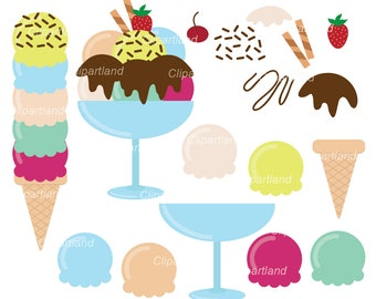 INSTANT Download. Buildable Ice cream clip art. Ci_1. Personal and commercial use.