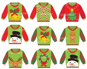 INSTANT Download. Christmas ugly christmas sweater clip art. Ccs_3. Personal and commercial use.
