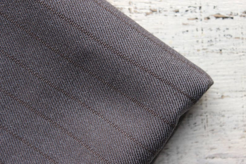 Wide vintage wool fabric 3.19 yards in 1 listing grey solid color woven pattern spripes