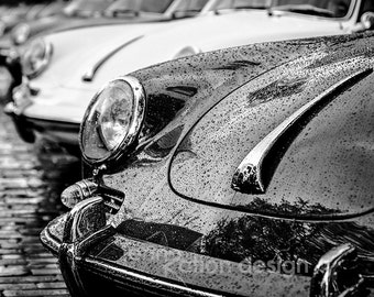 Porsche 356 Black White Print Car Photography Sports Art Man Cave Gift For Lovers Antique Photograph