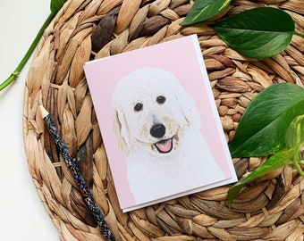 Labradoodle Greeting Card, Labradoodle Thank You Card, Dog Greeting Card, Labradoodle Birthday Card, Blank Dog Card, Dog Birthday Card