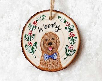 Custom Hand-painted Pet Ornament, Ornament With Your Pet's Portrait, Personalized Pet Ornament, Personalized Gift, Pet Lover Gift, Ornament