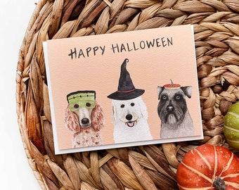 Dog Halloween Card, Halloween Card, Schnauzer Halloween Card, Poodle Halloween Card, Labradoodle Halloween Card, Funny Dog Halloween Card